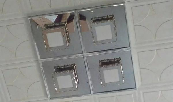 小水晶灯 4拼效果